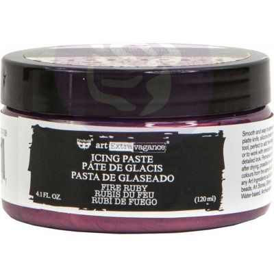 Finnabair Art Extravagance Icing Paste 120ml Jar-Fire Ruby