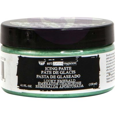 Finnabair Art Extravagance Icing Paste 120ml Jar-Lucky Emerald