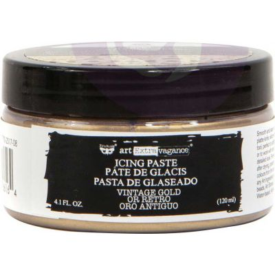 Finnabair Art Extravagance Icing Paste 120ml Jar-Antique Gold