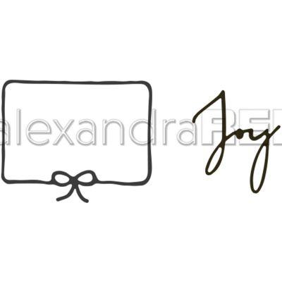 Alexandra Renke Dies-Joy W/Framed Ribbon