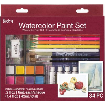 Studio 71 Watercolor Paint Set 34/Pkg-