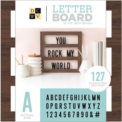 DCWV Backless Letterboard 12