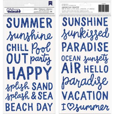 Oh Summertime Thickers Stickers 5.5
