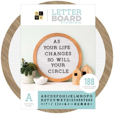 DCWV Circular Letterboard 15