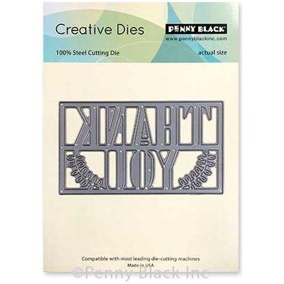 Penny Black Creative Dies-Framed Thanks 4.1
