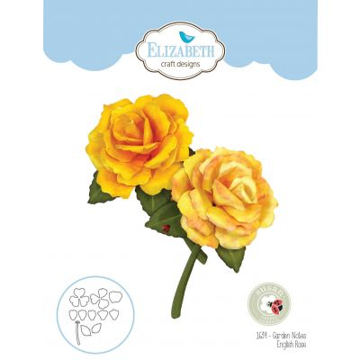 Elizabeth Craft Metal Die By Susan's Garden Club-Garden Notes-English Rose