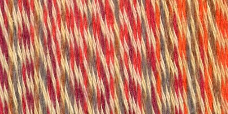 Lion Brand Yarn 756-704 Comfy Cotton Blend Yarn Stained Glass Lightweight CYC 3