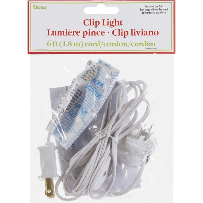 Darice Designer Clip Light White