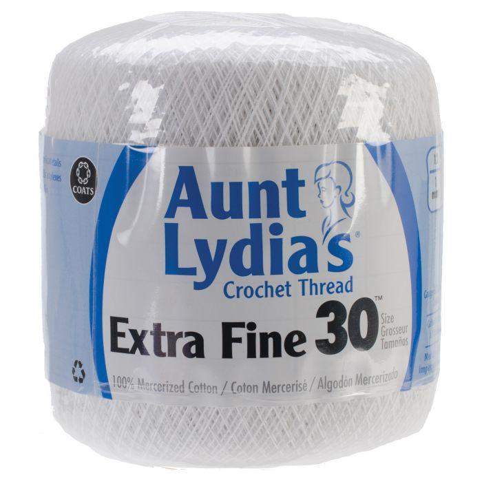 Aunt Lydias Extra Fine Crochet Thread Size 30 12pk