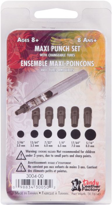 Tandy Maxi Punch Set with changeable tubes