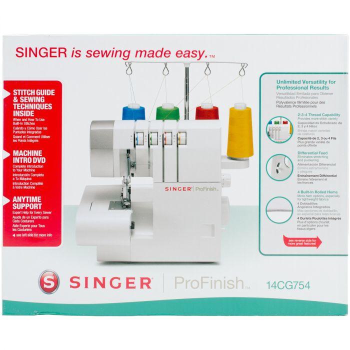 Singer Serger Overlock Machine White W/Gray Accents - 14CG754
