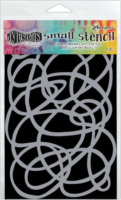 Large Dylusions Stencil Squiggle