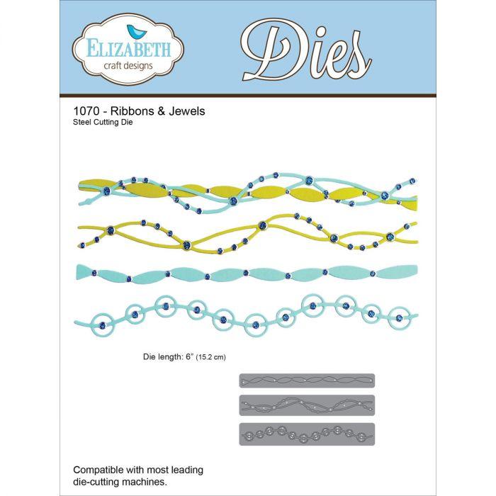 """Elizabeth Craft Designs Elizabeth Craft Metal Die-Ribbons /& Jewels 6/"""""""