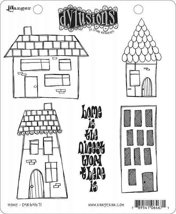 Old Is The New Black 64688 Dyan Reaveley/'s Dylusions Cling Stamps