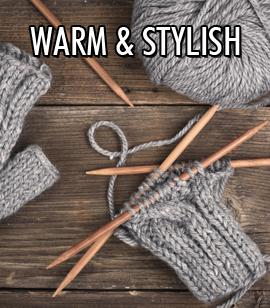 Keeping warm can look good too!